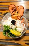 龙虾生鱼片 库存图片