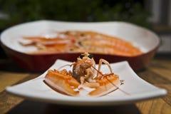 龙虾盛肉盘 免版税库存图片