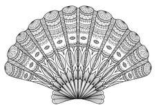 龙虾线艺术 免版税库存图片