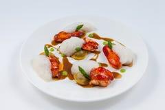 龙虾罚款用餐 库存图片
