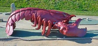 龙虾雕塑 库存图片
