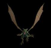 龙邪恶的飞行绿色 库存照片