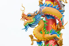 龙雕塑 库存图片