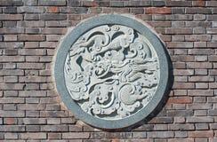 龙雕塑 免版税库存图片