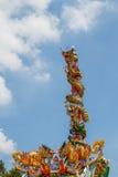 龙雕象两塔 免版税库存照片