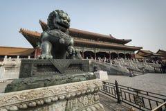 龙雕象故宫北京中国 图库摄影