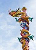 龙雕象 图库摄影