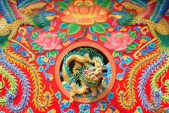龙雕象 免版税库存图片