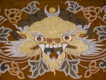 龙,不丹 库存图片