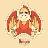 龙,中国占星的动画片标志2024年 皇族释放例证
