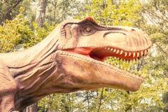 暴龙rex特写镜头头  免版税库存照片