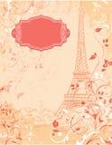 巴黎,与埃佛尔铁塔的背景 库存图片