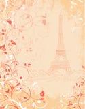 巴黎,与埃佛尔铁塔的背景 免版税库存照片