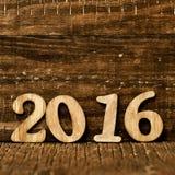 2016年,作为新年 免版税库存照片