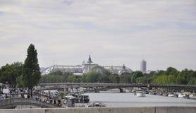 巴黎,威严的16,2013塞纳河桥梁在巴黎 免版税图库摄影