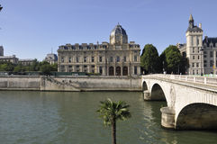 巴黎,威严的15,2013塞纳河桥梁在巴黎 免版税库存图片