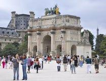 巴黎,威严的18,2013弧de Triomphe du转盘在巴黎 库存图片