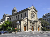 巴黎,威严的16,2013教会在巴黎,法国 库存照片