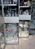 巴黎,威严的18水晶协和飞机窗口商店在巴黎 图库摄影