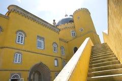 1995,当城堡世纪文化da约会遗产ixth横向里斯本在palacio零件pena葡萄牙被认可的sintra站点科教文组织查阅世界附近停泊 库存图片