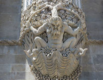 1995,当城堡世纪文化da约会遗产ixth横向里斯本在palacio零件pena葡萄牙被认可的sintra站点科教文组织查阅世界附近停泊 这座城堡建于IX世纪并且是rec 库存照片