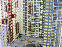 24 09 2016年,摩尔多瓦,房地产陈列:抽象现代apa 免版税库存图片