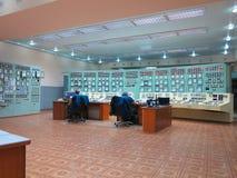 13 05 2016年,摩尔多瓦,电力类的控制板室 图库摄影
