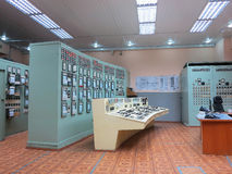 13 05 2016年,摩尔多瓦,电力类的控制板室 库存照片