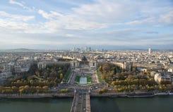 巴黎,晚上城市的看法 免版税库存照片