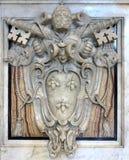 19 06 2017年,梵蒂冈:徽章梵蒂冈标志bas的 免版税库存照片