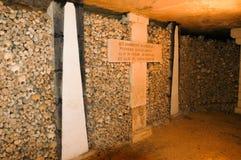 巴黎,法国地下墓穴 图库摄影