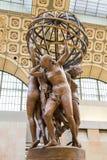 巴黎,法国, 2017年3月28日:吉恩巴帝斯特卡尔波,世界的四个地区 博物馆orsay巴黎 库存图片