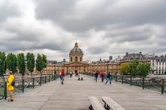 巴黎,法国, 2005年5月16日 艺术桥梁  库存照片