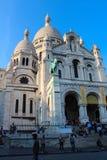 巴黎,法国, 2012年9月04日 Sacre-Coeur的游人 免版税库存照片