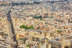 巴黎,法国,从蒙巴纳斯塔的全景鸟瞰图 图库摄影