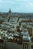 巴黎,法国, Panthéon鸟瞰图在视线内 免版税图库摄影