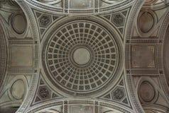 巴黎,法国- 2011年7月, 19日:万神殿圆顶  免版税库存照片