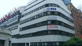 巴黎,法国- 12月, 31 欧洲航天局ESA总部 库存照片