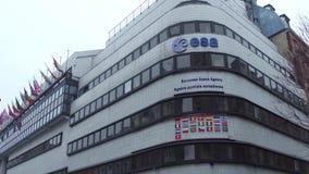 巴黎,法国- 12月, 31 欧洲航天局ESA总部 库存图片