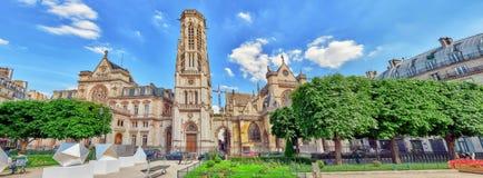 巴黎,法国- 2016年7月06日:圣日耳曼l ` Auxerrois教会 免版税图库摄影