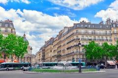巴黎,法国- 2016年7月08日:在卢森堡附近的Fontaine Rostand 库存图片