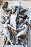 巴黎,法国- 2015年9月10日:在garnier的雕象 免版税库存照片