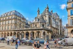 巴黎,法国- 2016年7月06日:寺庙新教徒de l'Oratoire 库存图片