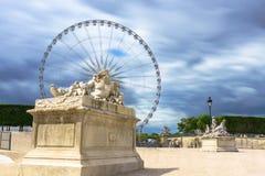 巴黎,法国- 2017年5月2日:尼罗雕象在t庭院里  免版税库存图片