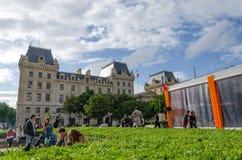 巴黎,法国- 2015年5月14日:法国人民援引海岛,巴黎 库存照片