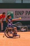 巴黎,法国- 2017年6月10日:罗兰・加洛斯妇女轮椅fi 库存图片