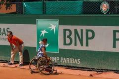 巴黎,法国- 2017年6月10日:罗兰・加洛斯妇女轮椅fi 库存照片
