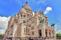巴黎,法国- 2016年7月04日:耶稣圣心(也已知蓬蒿 免版税库存照片