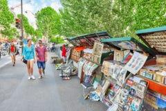 巴黎,法国- 2016年7月06日:艺术家街道河的S 免版税库存照片