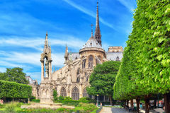 巴黎,法国- 2016年7月08日:巴黎圣母院大教堂, m 免版税库存照片